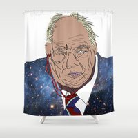 patrick Shower Curtains featuring Patrick Moore by ochre7