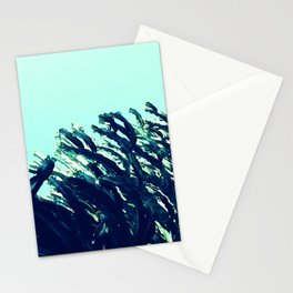 Wild west | cactus blue green sky photography Stationery Cards