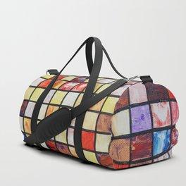Mosaic abstract painting by Ksavera Duffle Bag