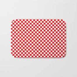 Large Australian Flag Red and White Check Checkerboard Bath Mat