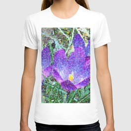 Purple Crocus Mosaic T-shirt