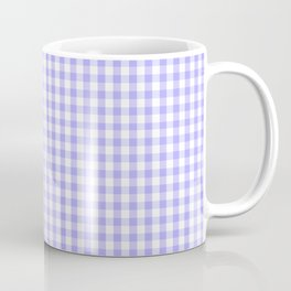 Melrose Purple Gingham  Coffee Mug