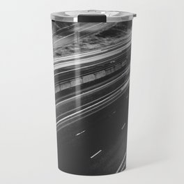 Seattle at Night - Black and White Travel Mug