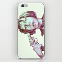 leon iPhone & iPod Skins featuring leon - mathilda  by Doruktan Turan