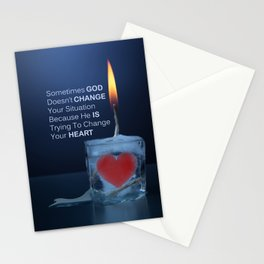 God Changes Hearts Stationery Cards