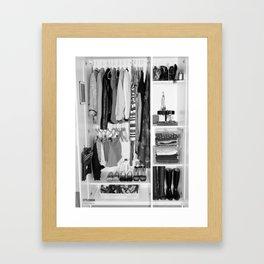Black and White Closet  Framed Art Print