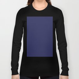navy blue solid Long Sleeve T-shirt