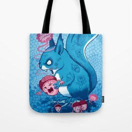 Zombie Squirrel Tote Bag