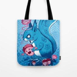 Zombie Squirrel Tote Bag