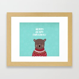 Merry Beary Christmas Framed Art Print