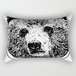 Diamond Grizzly Bear Rectangular Pillow