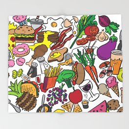 Foodie Throw Blanket
