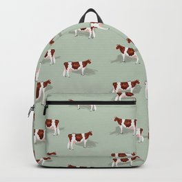 Red & White Holsteins // Sage Backpack