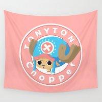 tony stark Wall Tapestries featuring One Piece - Tony Tony Chopper (My Style) by Seez