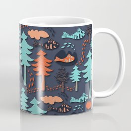 Fishes in the wood Coffee Mug