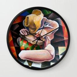 Miguez Cuban Art. Solo de tambor. Wall Clock