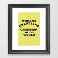 Inter-Gender Champion Framed Art Print