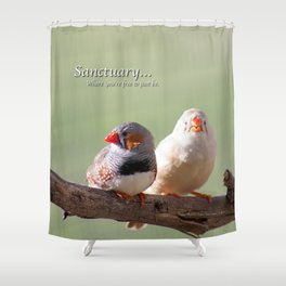 Finches @ Happy Hooves Farm Sanctuary Shower Curtain