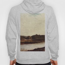 Study Of Wawayanda Lake Orange Co 1873 By David Johnson | Reproduction | Romanticism Landscape Paint Hoody