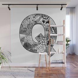 Cutout Letter Q Wall Mural