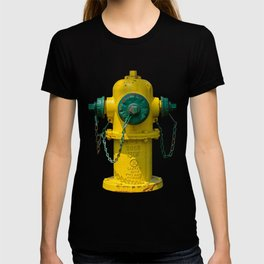 East Jordan Iron Works Yellow and Green Fire Hydrant Fluted Fireplug T-shirt