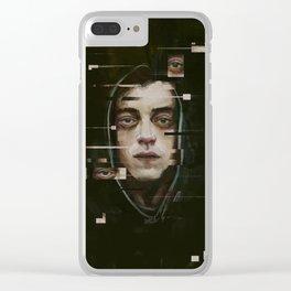 Mr. Robot (Elliot) Clear iPhone Case