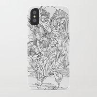 cyberpunk iPhone & iPod Cases featuring A Cyberpunk Madonna by Davide Caviglia