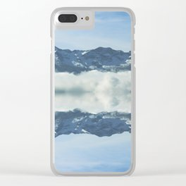 Mirrored landscape 3 pyrenees Clear iPhone Case