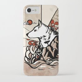 Wolf Ukiyo-e iPhone Case