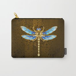 Mechanical Dragonfly ( Steampunk ) Carry-All Pouch
