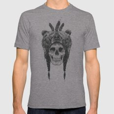 Dead shaman (b&w) LARGE Mens Fitted Tee Tri-Grey