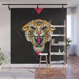 Tiger 3 Eyes Wall Mural