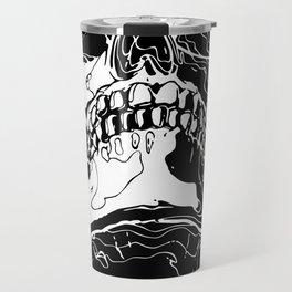 Carnibal / Ink Skull / White / S Travel Mug