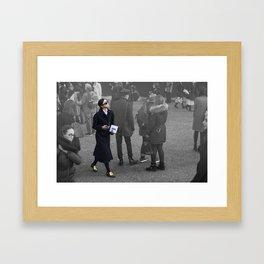 Girl at Unique Framed Art Print