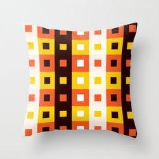 Stripes & Squares Throw Pillow