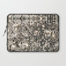 Silver disco glitter and sparkles Laptop Sleeve