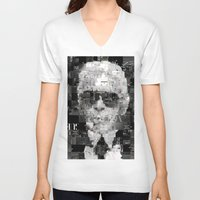 karl V-neck T-shirts featuring Karl Lagerfeld by Artstiles