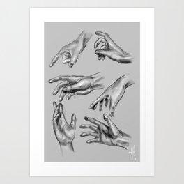 Hands of a Lover Art Print