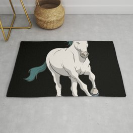 Wild horse running Rug