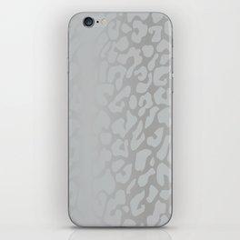 White Silver Leopard Print iPhone Skin