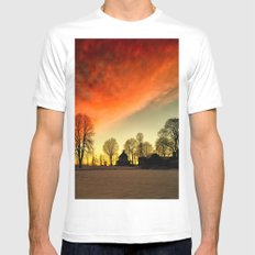 Dramatic Sunset White Mens Fitted Tee MEDIUM