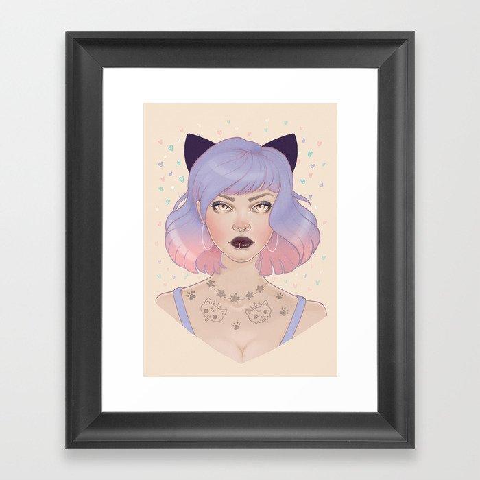 Cat Paw Tattoo Gerahmter Kunstdruck