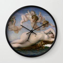THE BIRTH OF VENUS - ALEXANDRE CABANEL Wall Clock