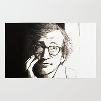 woody allen Area & Throw Rugs featuring Woody Allen by Frances Roughton