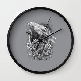 White Raven Wall Clock