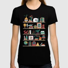 The shelf Womens Fitted Tee Black LARGE
