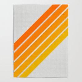 Orange Color Drift Poster