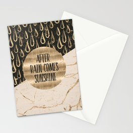 GRAPHIC ART After rain comes sunshine Stationery Cards