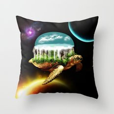 The great A Tuin Throw Pillow