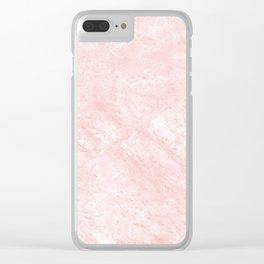Blush pink white elegant modern marble Clear iPhone Case
